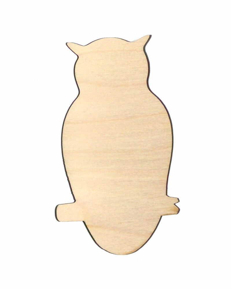 Owl bird unfinished wood shape cut out o656 laser crafts for Wood cutouts for crafts