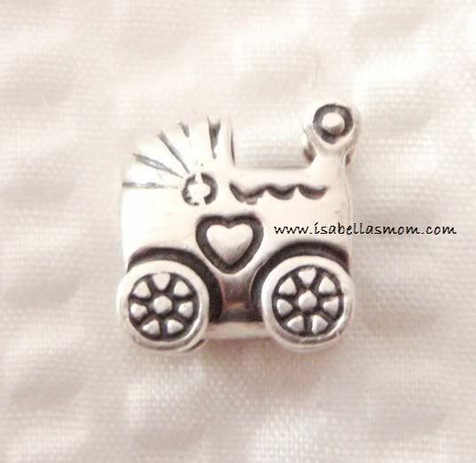 New Authentic Pandora 925 Ale Silver Baby Carriage