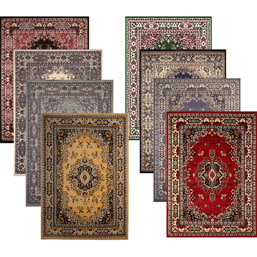 Traditional Medallion Persian Style 8x11 Large Area Rug