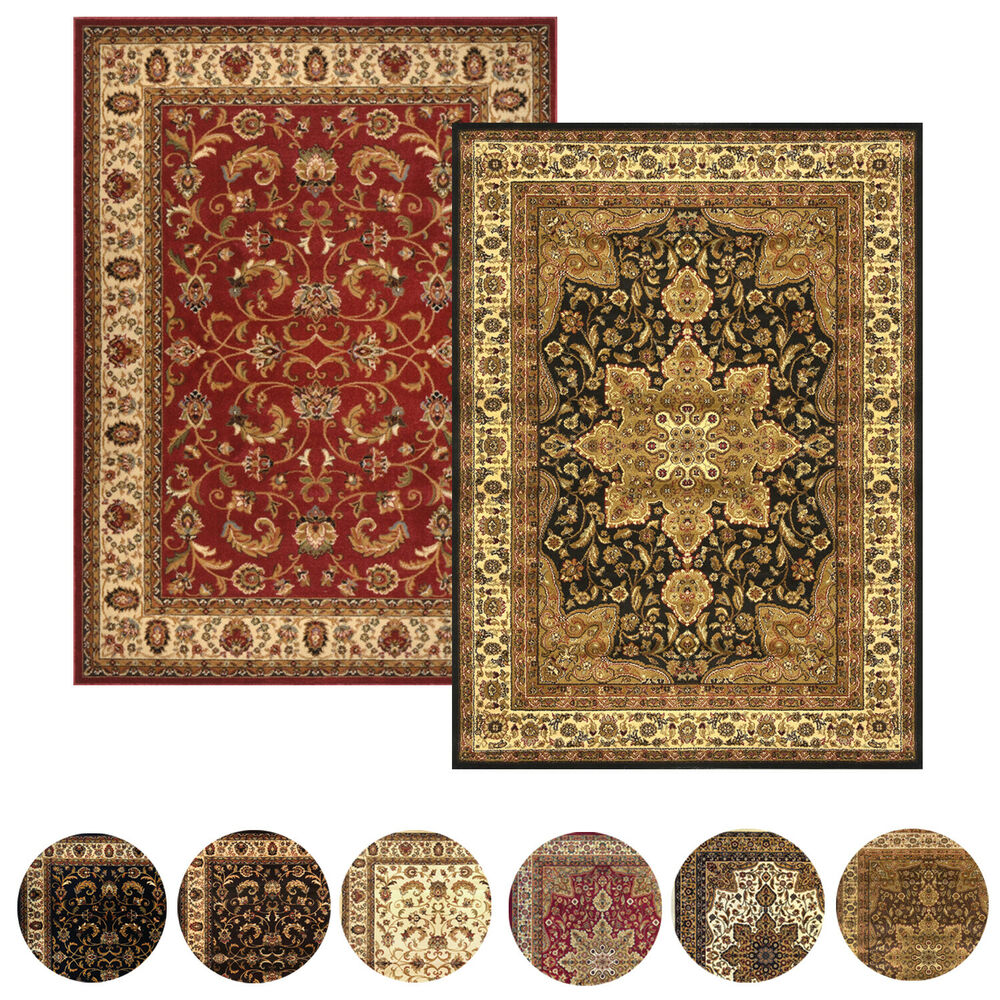 Throw Rugs Ebay: Traditional Persian Border Area Rug 5x8 Oriental Carpet