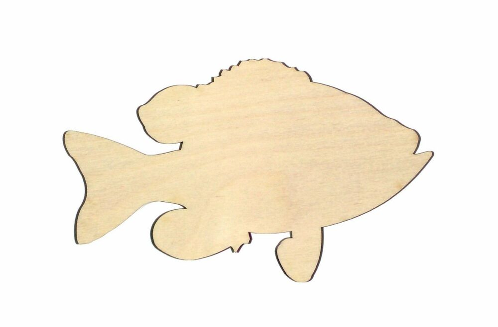 Bluegill fish unfinished wood shape cut out bgf757 crafts for Wood cutouts for crafts
