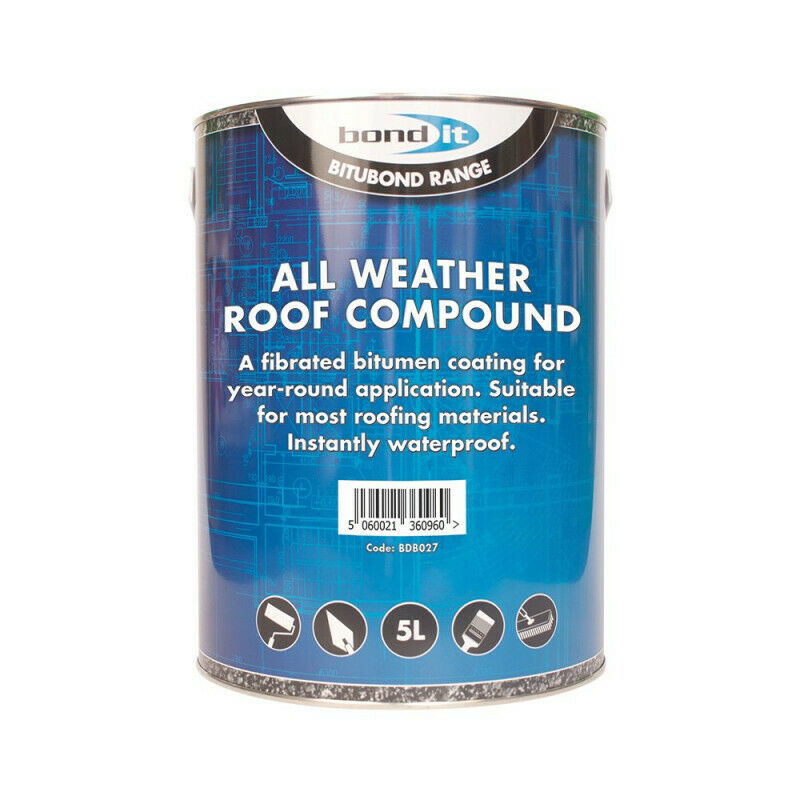 5ltr All Weather Roof Compound Paint Repair Leaks