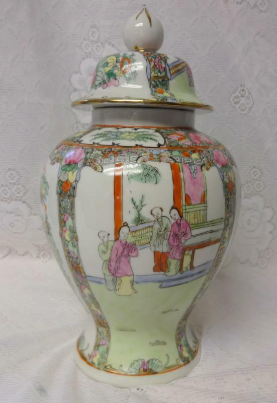 Antique Chinese Porcelain Famille Verte Rose Porcelain Tea Ginger Jar Vase Ebay