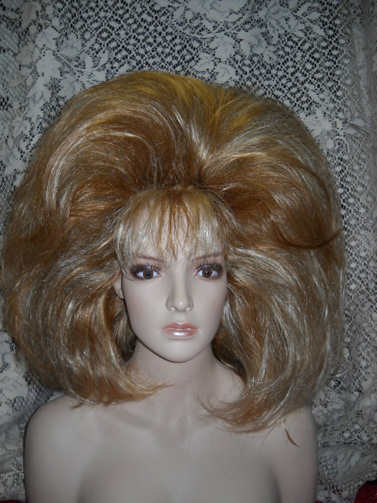 Wig Wigs Drag Fashion Striking Blonde Frosted New Ebay