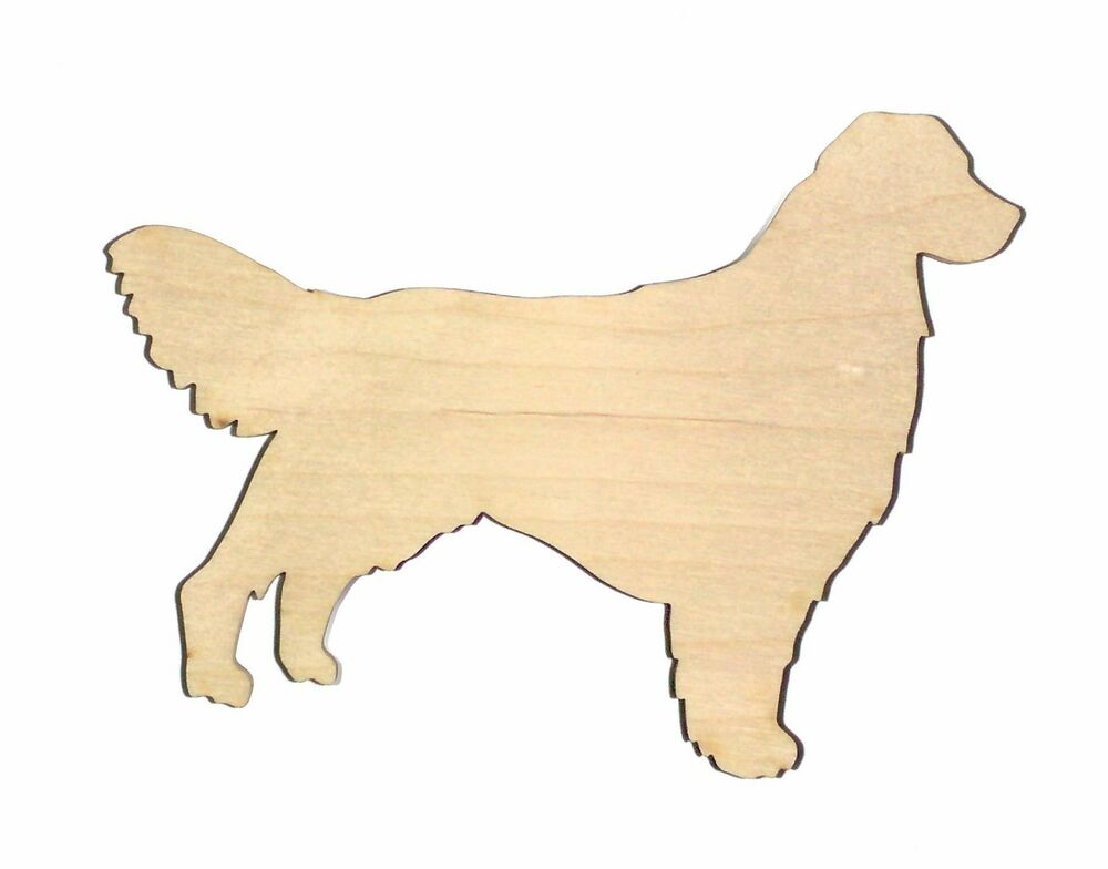 Golden Retriever Dog Unfinished Wood Shape Cut Out GR5622