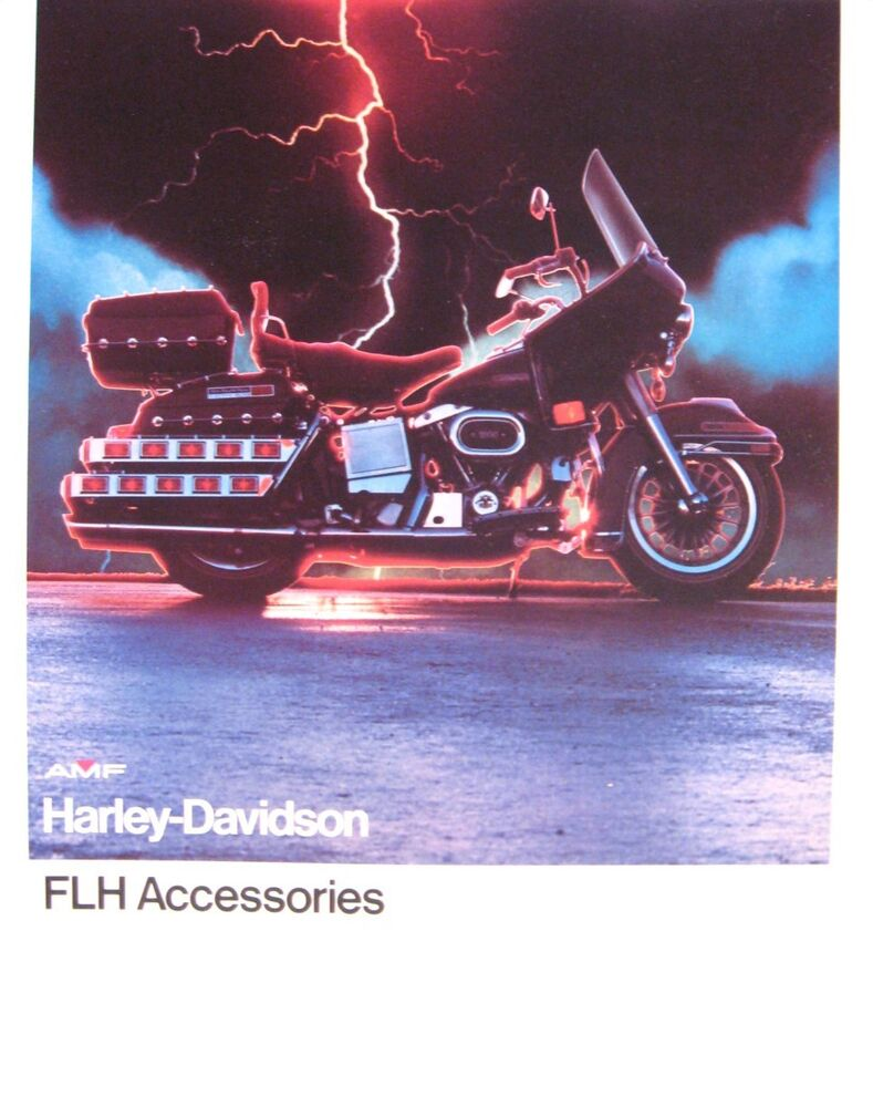 1978 harley davidson brochure flh electra glide accessories original xlnt ebay. Black Bedroom Furniture Sets. Home Design Ideas