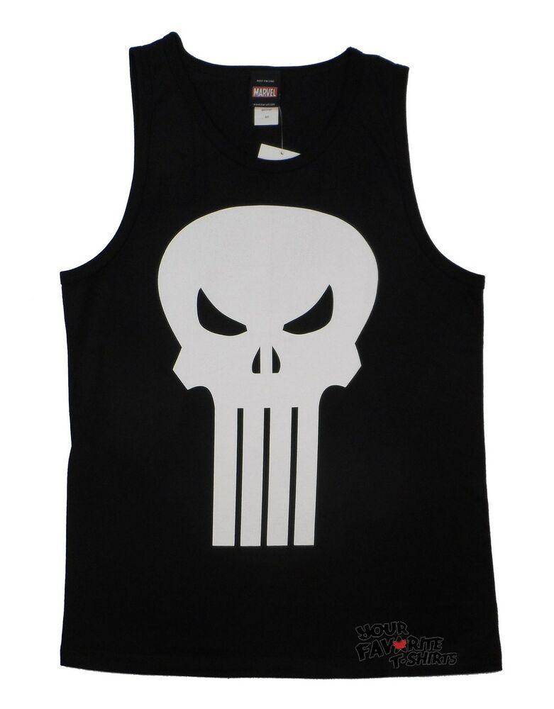 d895ff95f92ee Details about The Punisher Skull Symbol Plain Jane Marvel Comics Licensed  Adult T Shirt