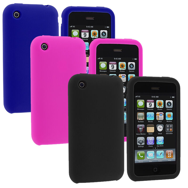 iphone 3gs cases color silicone rubber gel skin cover accessory for 10828