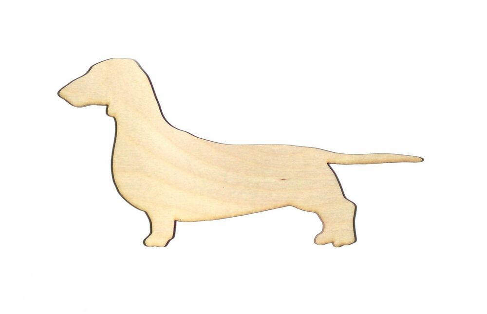 Dachshund Dog Unfinished Wood Shape Cut Out D5513 Crafts