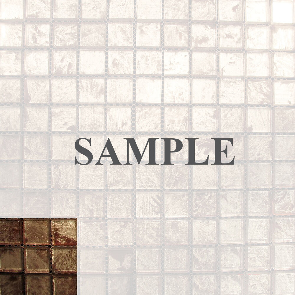 Kitchen Tiles Ebay: Sample- Metallic Backing Glass Mosaic Tile For Kitchen Backsplash Bath Sink Spa2