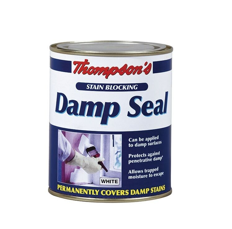 250ml thomsons ronseal white damp seal interior paint covers block. Black Bedroom Furniture Sets. Home Design Ideas