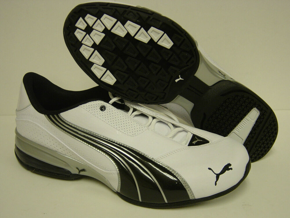 09d39ca3b76 Details about NEW Mens PUMA Cell Jago 6 185009 09 White Black Silver Sneakers  Shoes