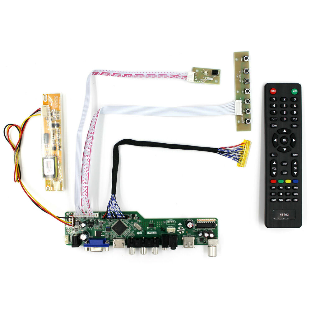 tv hdmi vga av usb audio lcd driver board for b154pw01 b170pw06 1440x900 lcd ebay. Black Bedroom Furniture Sets. Home Design Ideas