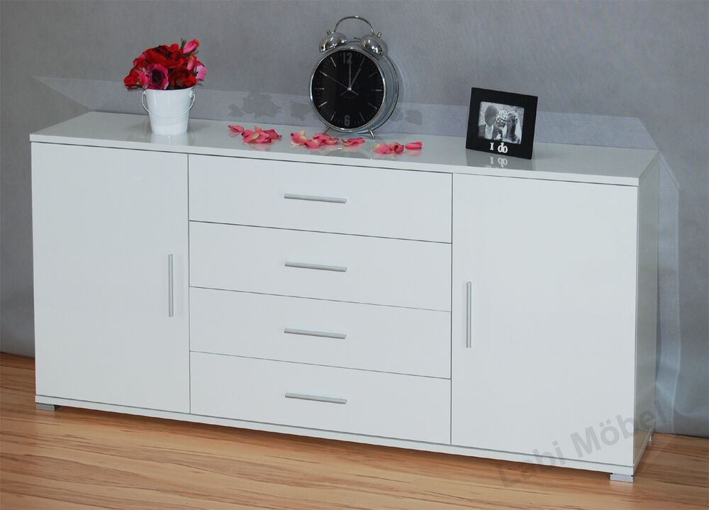 kommode sideboard anrichte schrank cosmo in hochglanz oder matt ebay. Black Bedroom Furniture Sets. Home Design Ideas