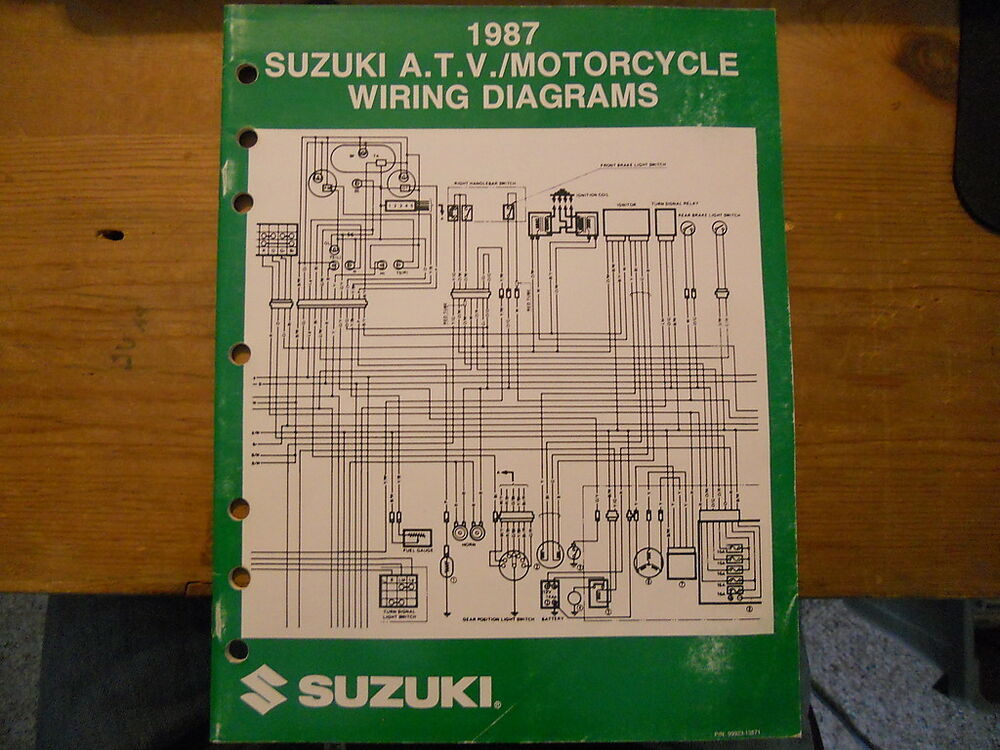 Suzuki Atv Motorcycle Wiring Diagrams 1987