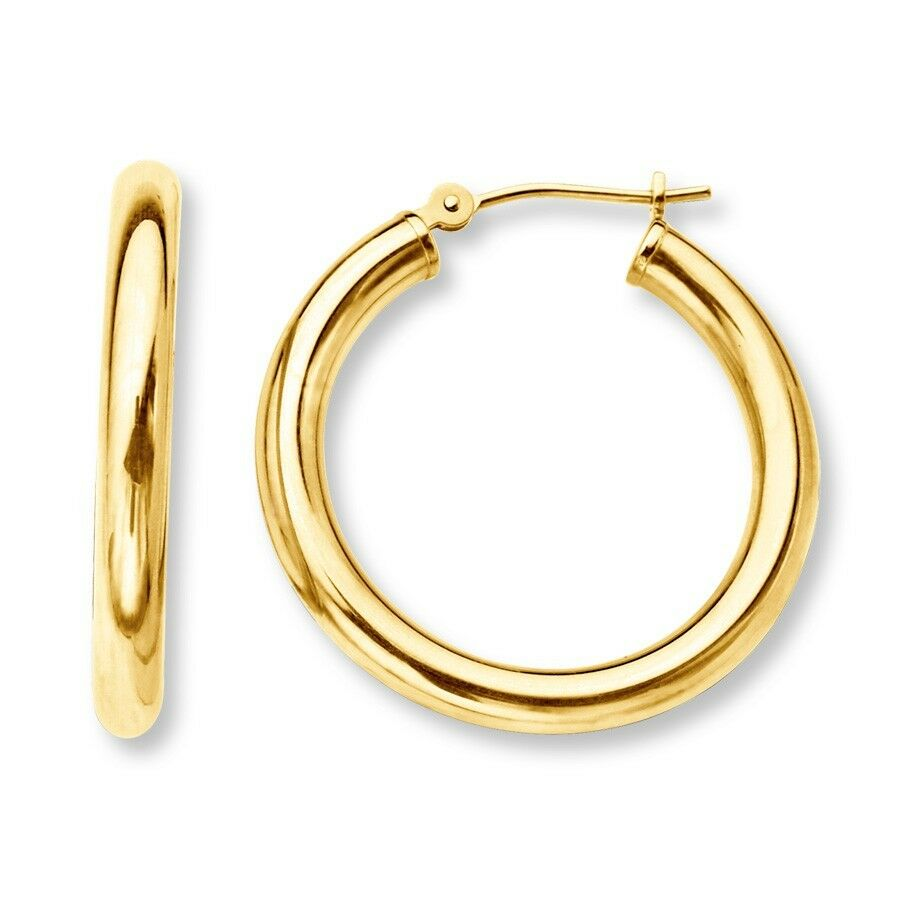 small hooped earrings 10mm 0 4 quot baby s infants small tiny hoop earrings real 14k 3348