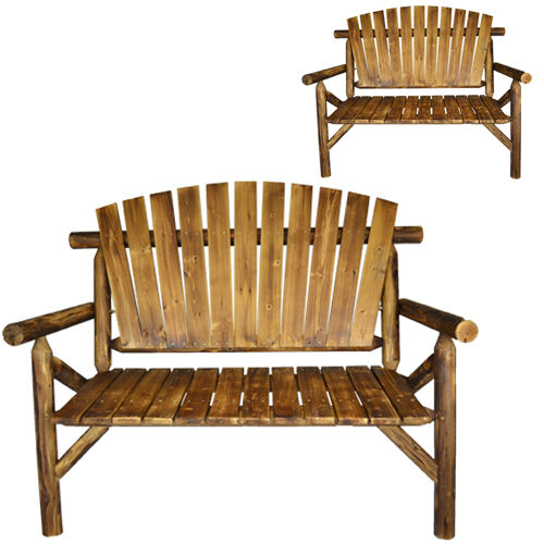 New Traditional 2 Seater Wooden Bench Seat Garden Outdoor
