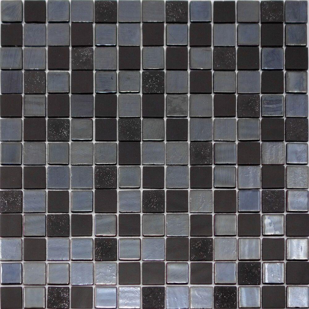 Kitchen Tiles Ebay: 10 SF - Modern Black Iridescent Glass Mosaic Tile Kitchen Backsplash Bathroom