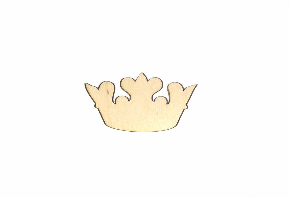 Crown Unfinished Wood Shape Cut Out C91078 Laser Crafts