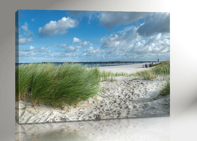 ostsee meer bild 100x70 leinwand canvas inkl keilrahmen 2299 ebay. Black Bedroom Furniture Sets. Home Design Ideas
