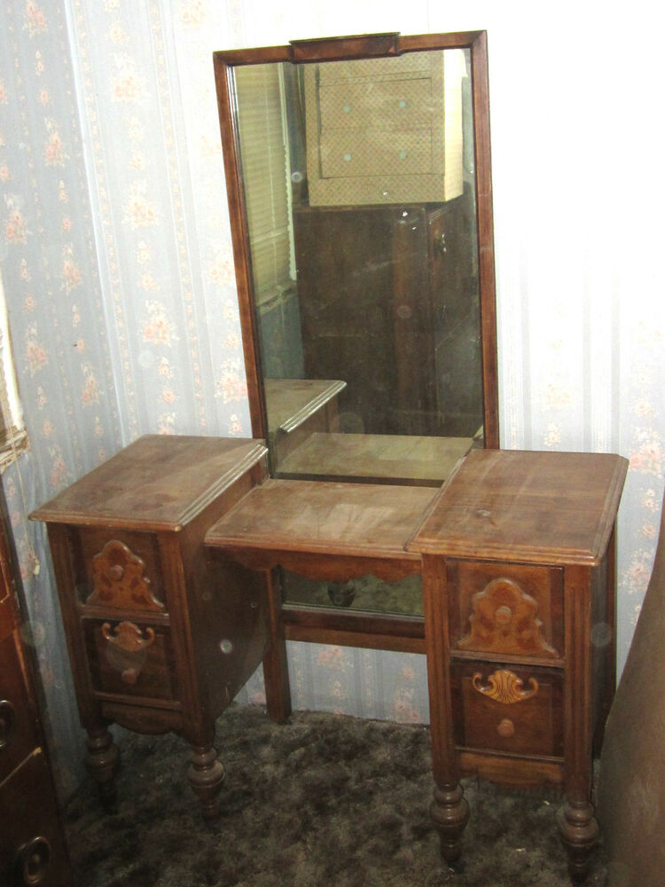 Antique Vintage 1800 39 S 1900 39 S Yr Bedroom Vanity Makeup Table With Mi