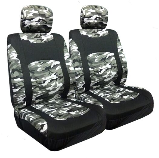 Snow Camo More Low Back Bucket Seat Covers Pair Ebay