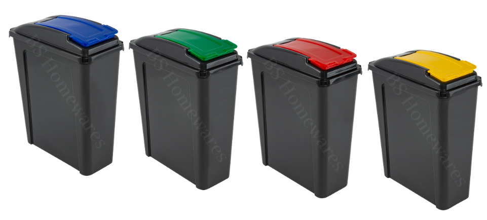 25l plastic recycling bin kitchen garden waste rubbish recycle 25 litre home ebay. Black Bedroom Furniture Sets. Home Design Ideas