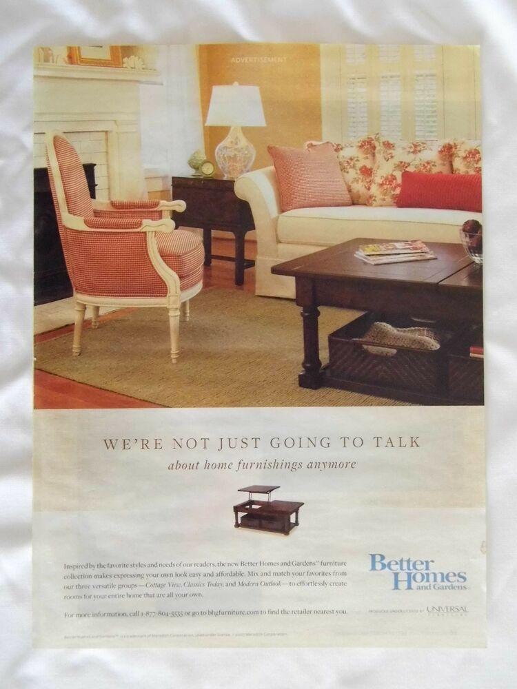 2007 Magazine Advertisement Page For Better Homes And