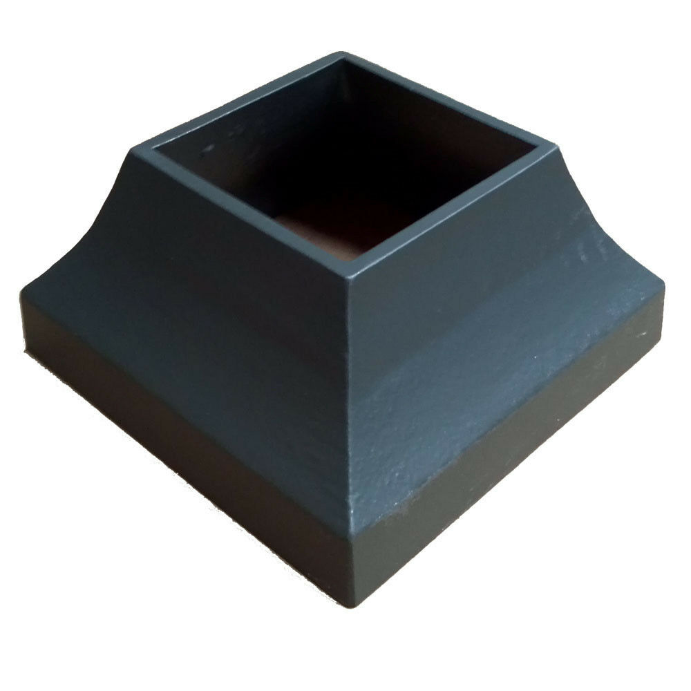 decorative aluminum post base cover fits 3in square post. Black Bedroom Furniture Sets. Home Design Ideas