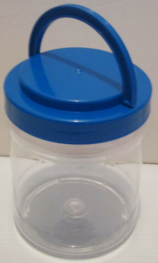 4 clear acrylic handled storage containers craft school for Crafts that sell on ebay