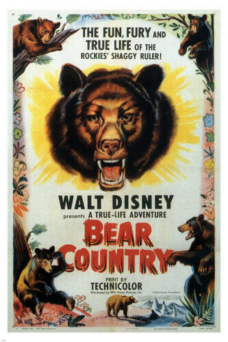 james algar's BEAR COUNTRY vintage movie poster WALT ...