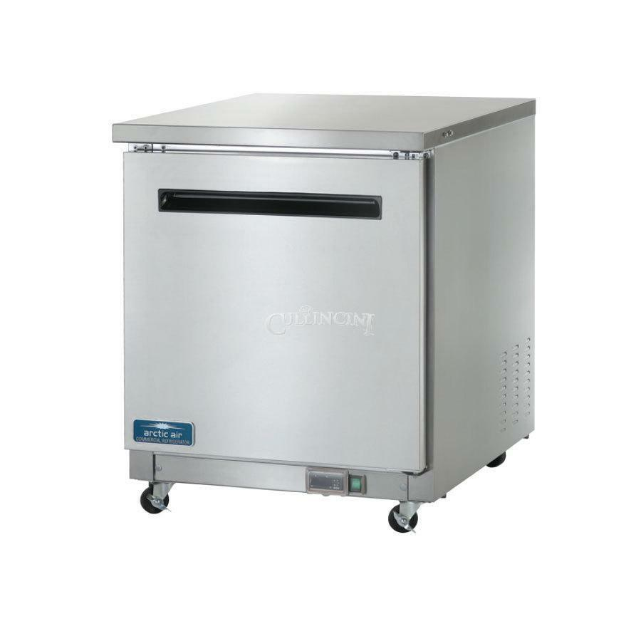 Arctic air auc27r commercial undercounter refrigerator for 1 door chiller