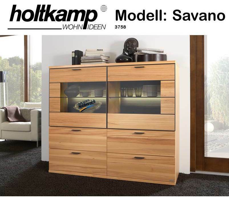 holtkamp savano highboard sideboard kernbuche buche mod 3758 neu ebay. Black Bedroom Furniture Sets. Home Design Ideas