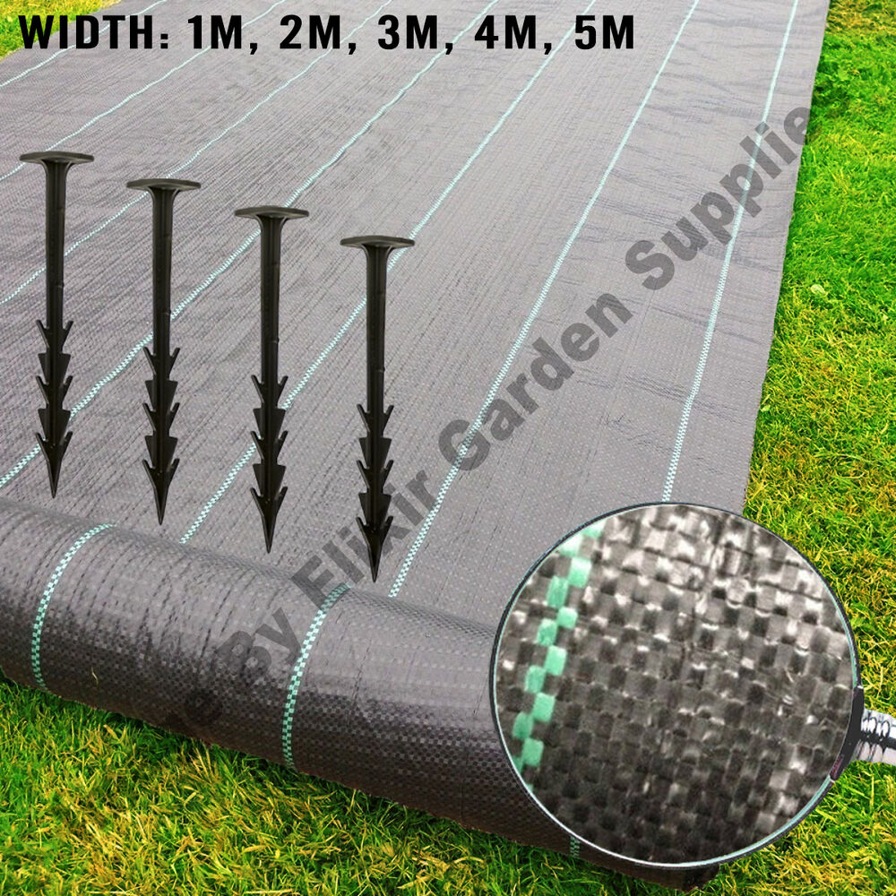 Woven Weed Membrane Ground Cover 4 Free Pegs Per Metre