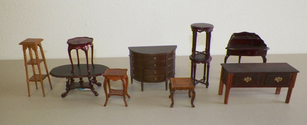 MINIATURE DOLL HOUSE FURNITURE LOT OF 10 PIECES BESPAQ