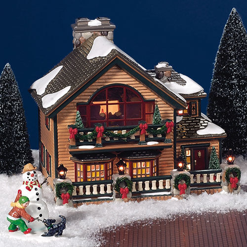 department 56 christmas lake chalet ebay. Black Bedroom Furniture Sets. Home Design Ideas