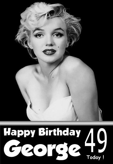 Marilyn Monroe Happy Birthday Card