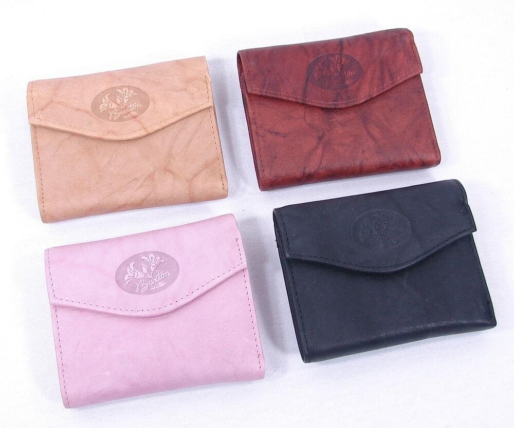 Buxton Genuine Leather Womens Small Mini Trifold Wallet ...