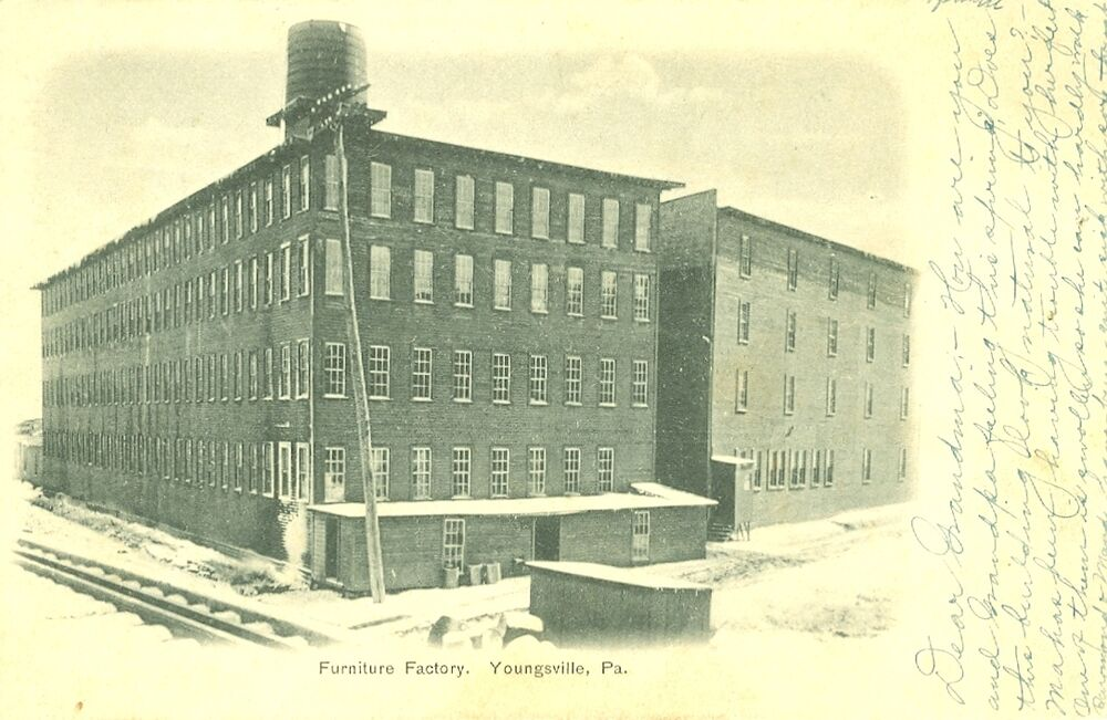 Youngsville Pa The Furniture Factory 1906 Ebay