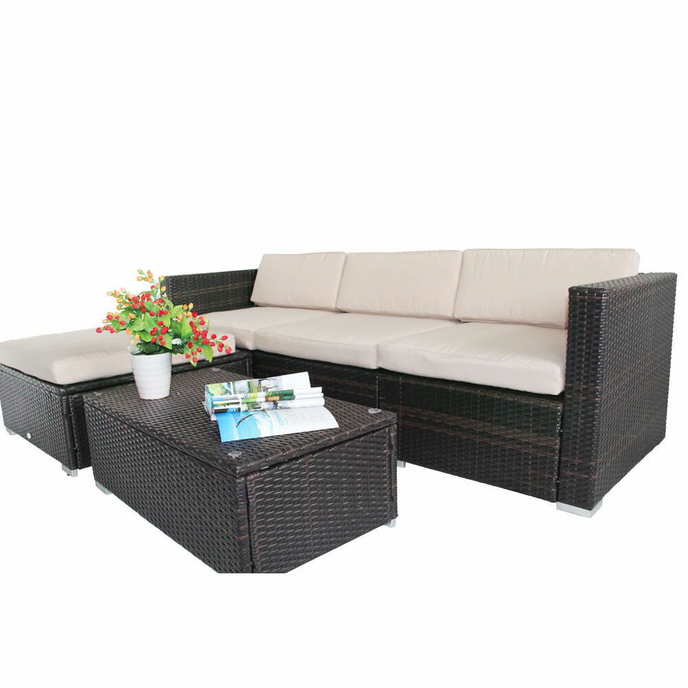Rattan Sofa Cushions Replacements: Rattan Garden Wicker Furniture Cushion Cover Replacement