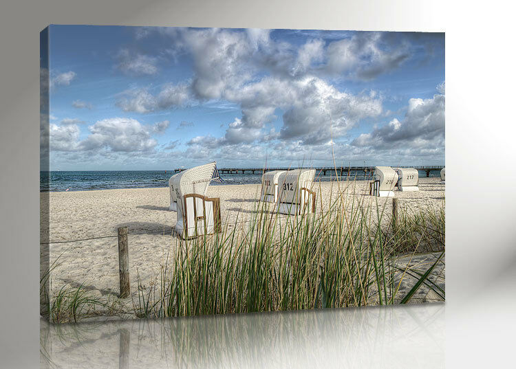 ostsee strandkorb bild 100x70 leinwand canvas inkl keilrahmen 2350 ebay. Black Bedroom Furniture Sets. Home Design Ideas