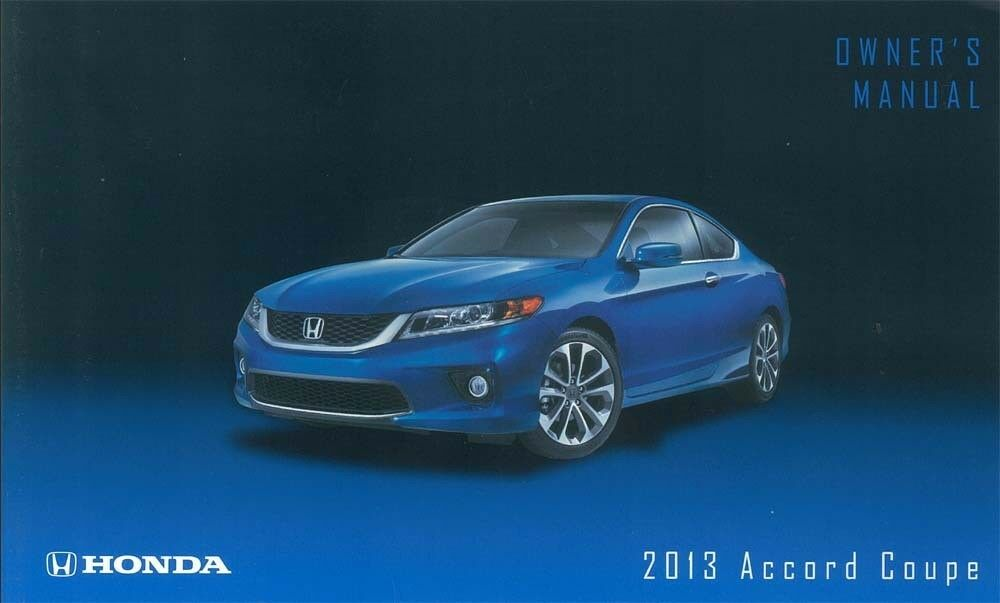 Owners Honda Com >> 2013 Honda Accord Coupe Owner Manual User Guide Reference ...