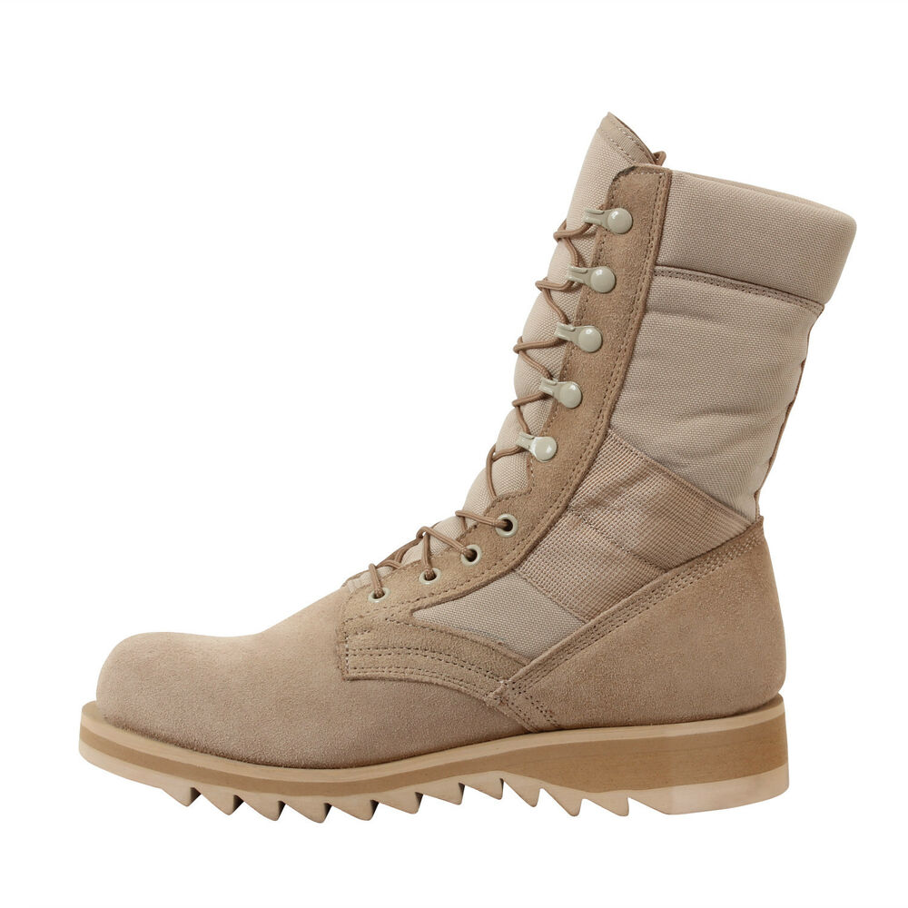 Boots Gi Type Ripple Sole Desert Tan Jungle Boot Reg And