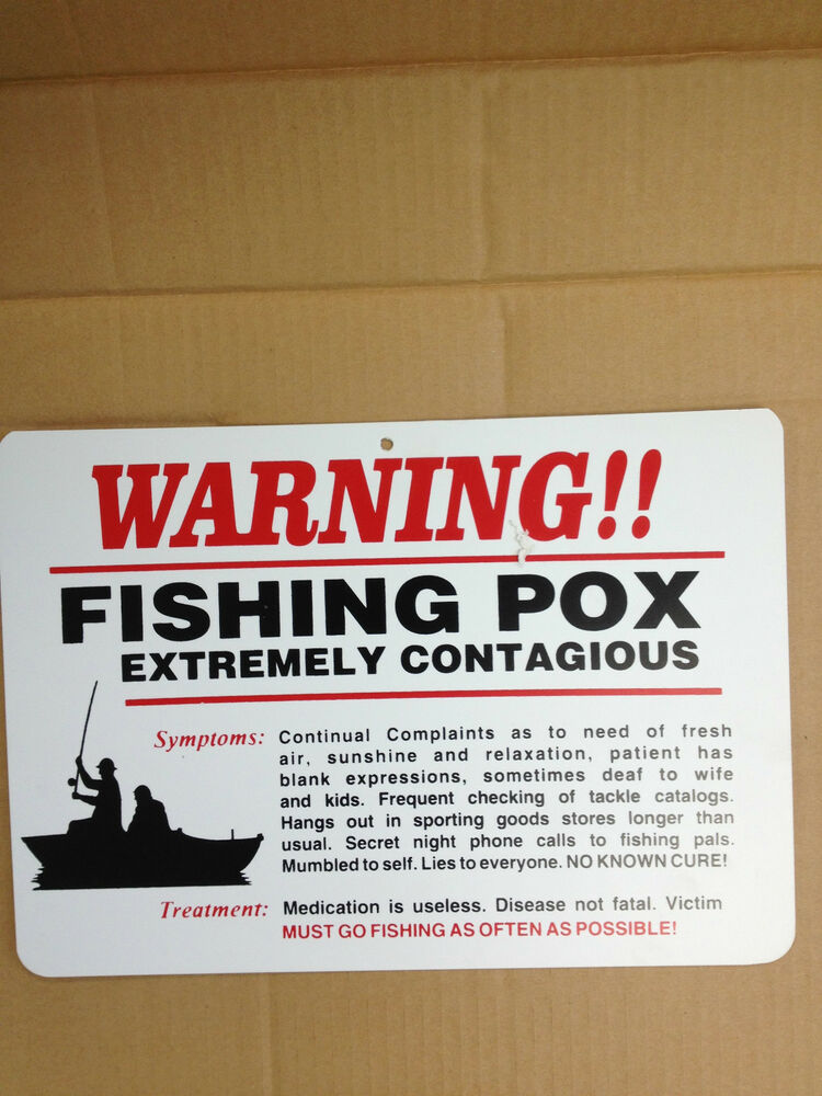 Warning fishing pox funny gift pvc street sign bar man for The rules of go fish