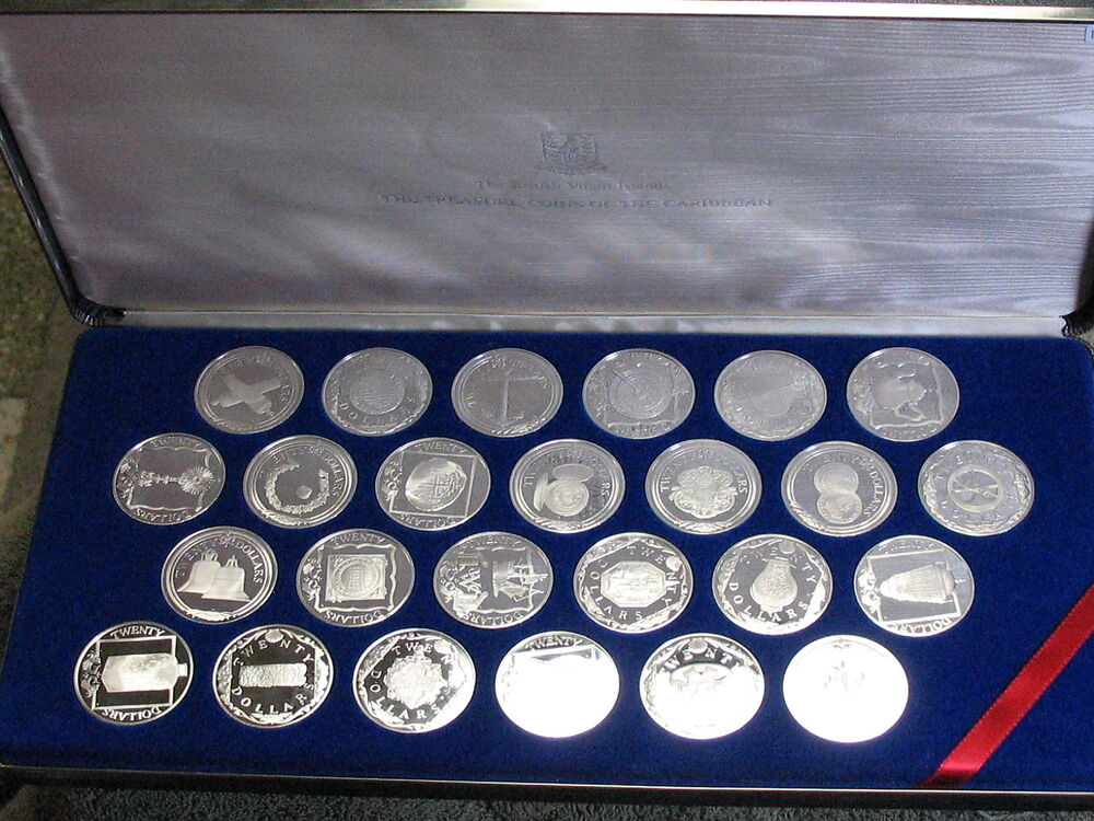 Franklin Mint 25 Coins Of The Caribbean Sterling Silver