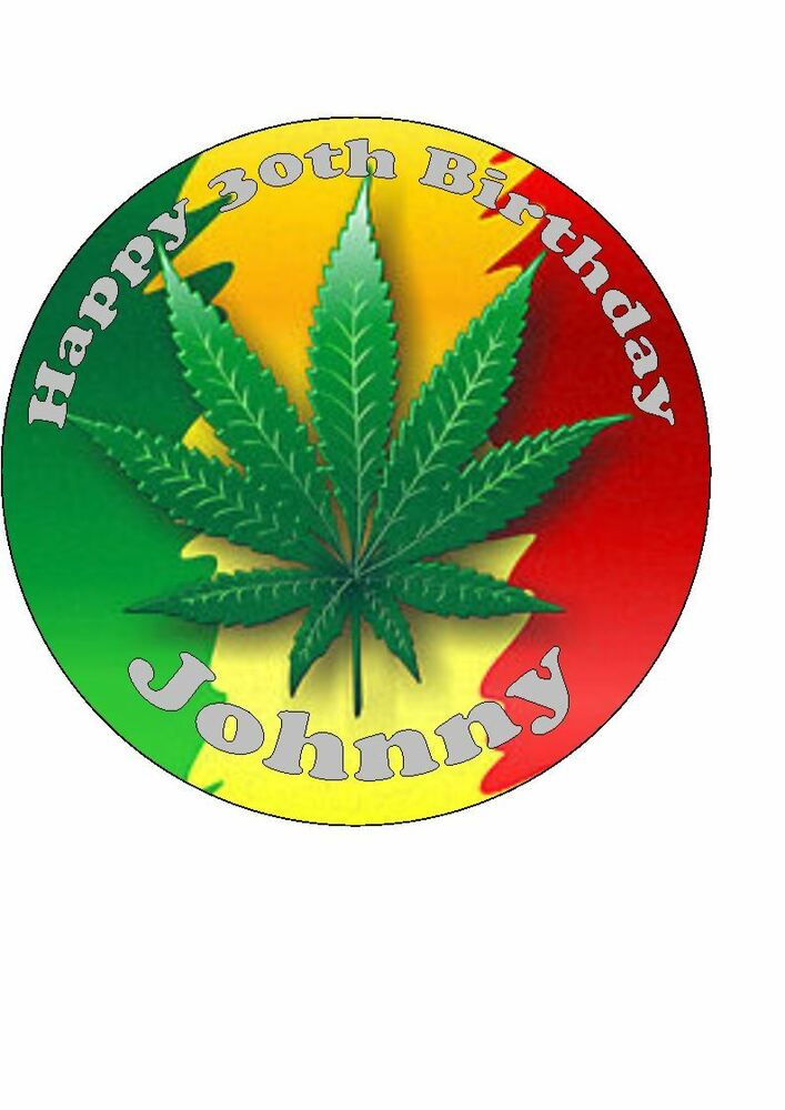 Marijuana Cake Decorations
