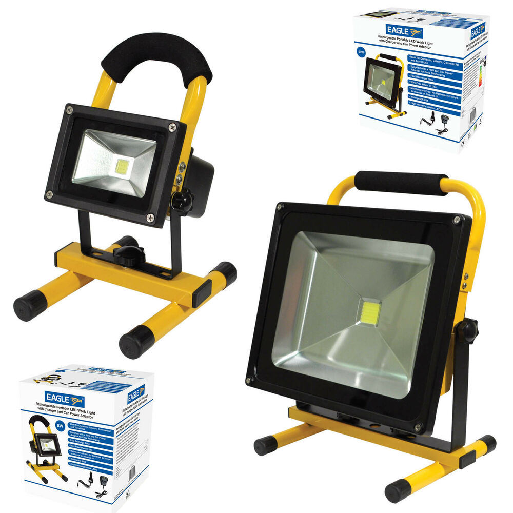 Led Flood Light Rechargeable 20w: 5w 10w 20w 30w & 50w Portable White LED Work Light
