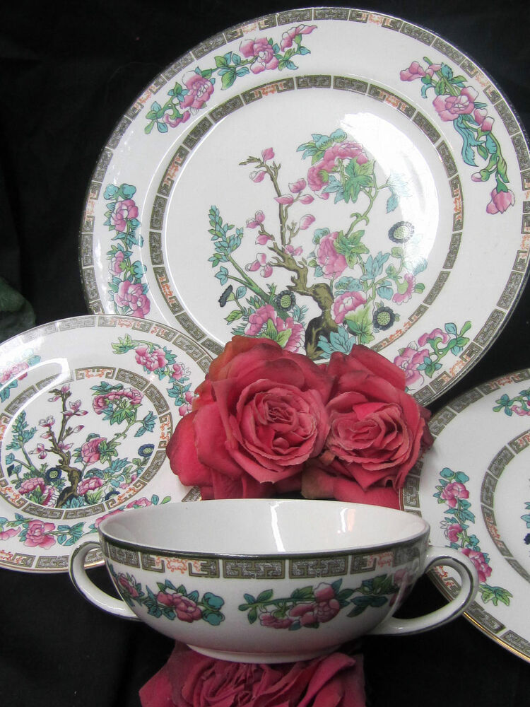 Antique 1880 Maddock England Dishes Double Handle Soup