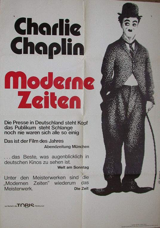 CHARLIE CHAPLIN ORIGINAL MOVIE POSTER GERMAN VERSION ...