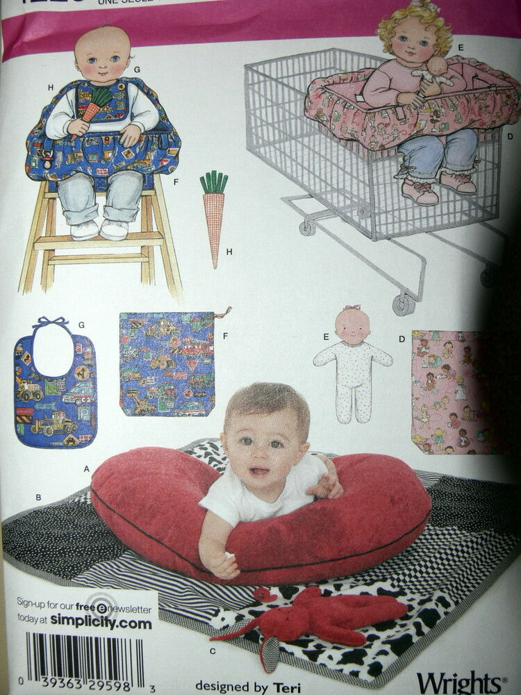 Simplicity Pattern 4225 Baby Accessories Shopping Cart